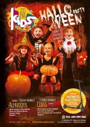 Halloween infantil y en familia en los almuerzos y cenas temáticas con regalos y concursos