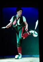 Festival de circo dónde divertirse en familia, un payaso malabarista dónde nos sorprenderá andando sobre una bola gigante