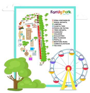 Parque de atracciones pensado para el disfrute de toda la familia con zonas diferenciadas por edades